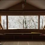 工事風景雪